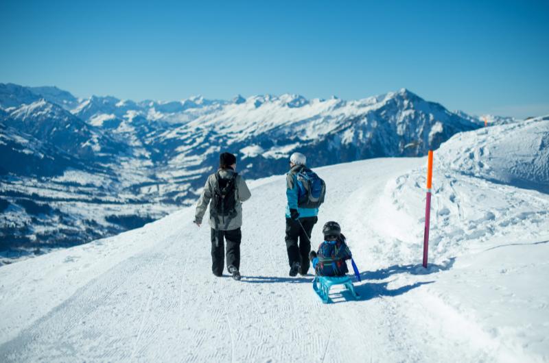 Winterwandern auf dem Niederhorn