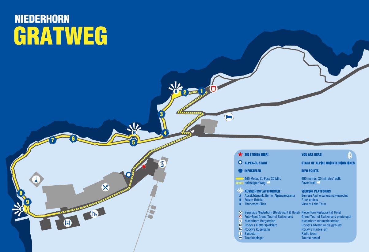Plan Gratweg Niederhorn